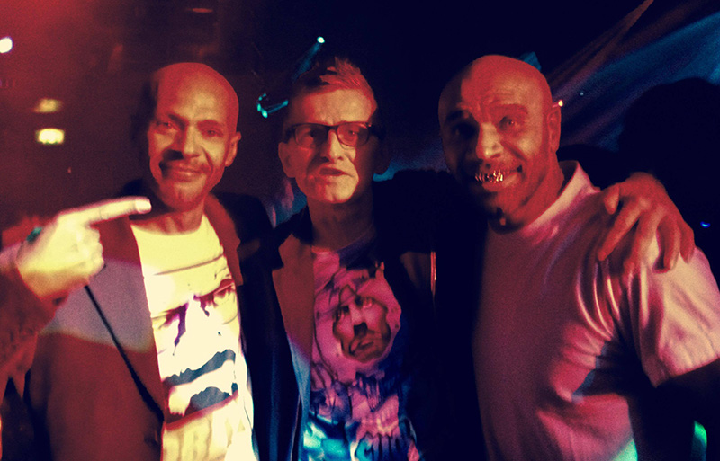 Joe with Wayne Anthony [Genesis] and Goldie