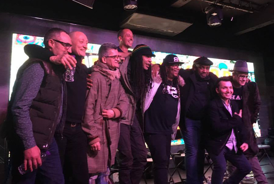 Joe 93rd from left) speaking at The Rave Story [Feb 2016]