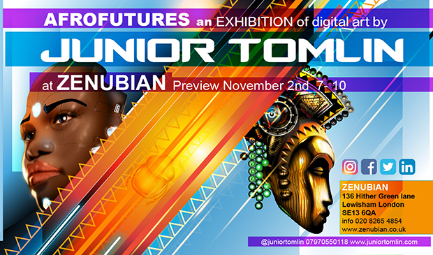 Junior Tomlin's AFROFUTURES Exhibition Launches November 2nd